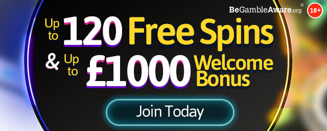Up to 120 free spins & up to £1000 welcome bonus - Fire and Gold