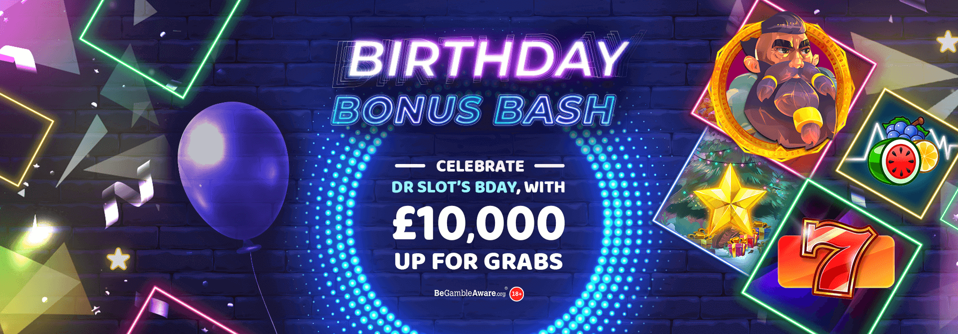 How much did you win with Dr Slot's Birthday Bonus Bash?