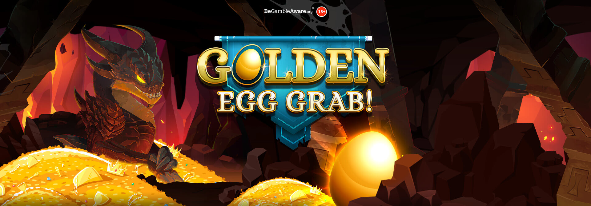 Do you dare to risk waking a sleeping dragon in Dr Slot's Golden EGG Grab?