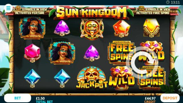 Sun Kingdom online slots - in game screenshot