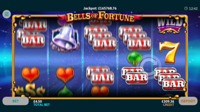 Bells of Fortune online slots in-game screenshot