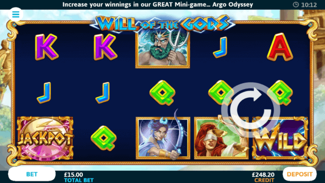 Will of the Gods online slots in game screenshot