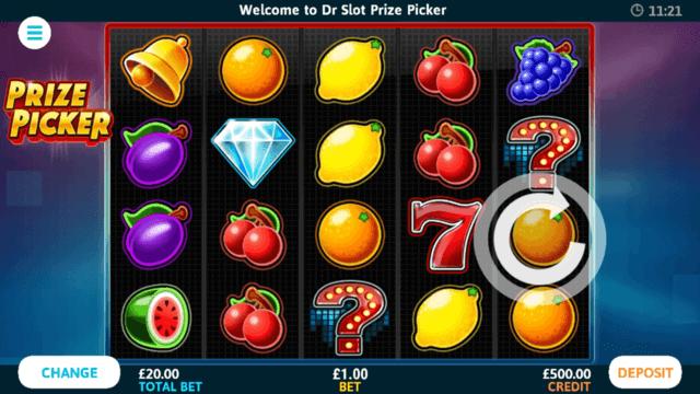 Prize Picker online slots in game screenshot