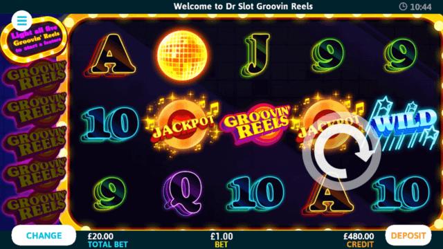 Groovin' Reels online slots in game screenshot
